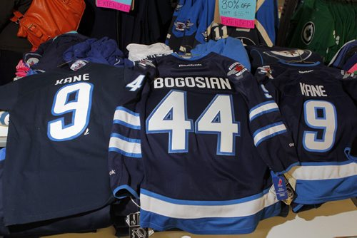 SPORTS - Royal Sports. Some Zach Bogosian and Evander Kane wear that is coincidently on sale at the Pembina Highway store. BORIS MINKEVICH / WINNIPEG FREE PRESS  FEB. 11, 2015