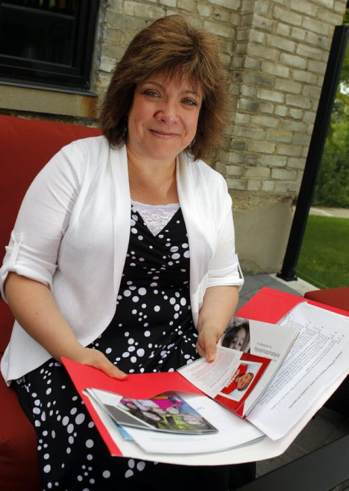 Debbie Taillefer, incoming president of what's soon to be the national organization for people with Soft Bones. BORIS MINKEVICH/WINNIPEG FREE PRESS July 8, 2015