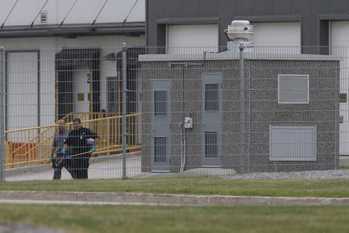 July 14, 2015 - 150714  -  Police attend to and x-ray a suspicious package in the suspicious package building at Canada Post building. The Canada Post building at the airport was evacuated because of a suspicious package Tuesday July 14, 2015.  John Woods / Winnipeg Free Press