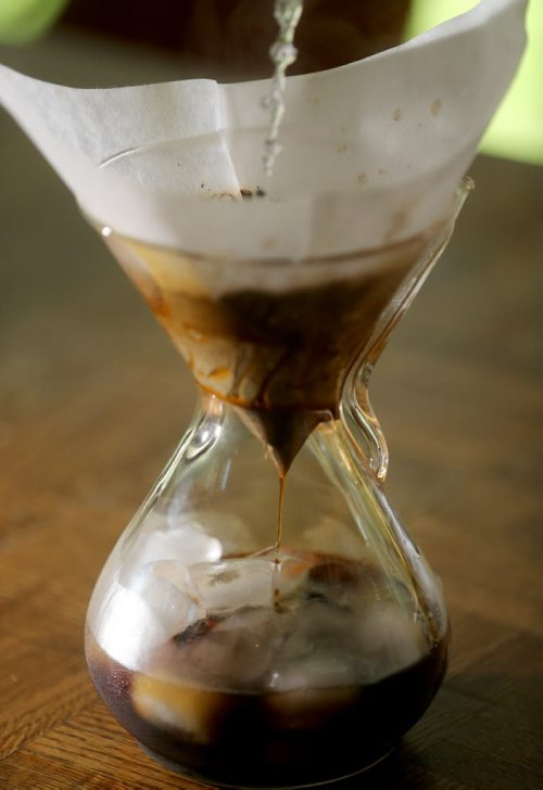 Food Front. Japanese-style Pour-Over Iced Coffee Alison Gilmore. Monday, July 27, 2015. (TREVOR HAGAN/WINNIPEG FREE PRESS)