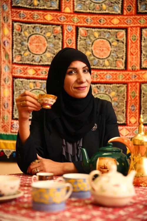 Rubina Atif, TeaFest coordinator, at the Islamic Social Services Association in Winnipeg on Tuesday, Sept. 29, 2015.  TeaFest will take place this Sunday at the Franco-Manitoban Cultural Centre, with the goal being to get Canadians chatting over a cup of tea. Mikaela MacKenzie / Winnipeg Free Press