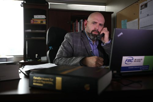 Nate Brideau  Corporate Tax Specialist, Business Consultant with FBC works in his office on Portage Ave.  He recently helped a client deal with a scam artist trying to bill her with close to $5,000 of charges. See Kevin Rollason's story.   Oct 23, 2015 Ruth Bonneville / Winnipeg Free Press
