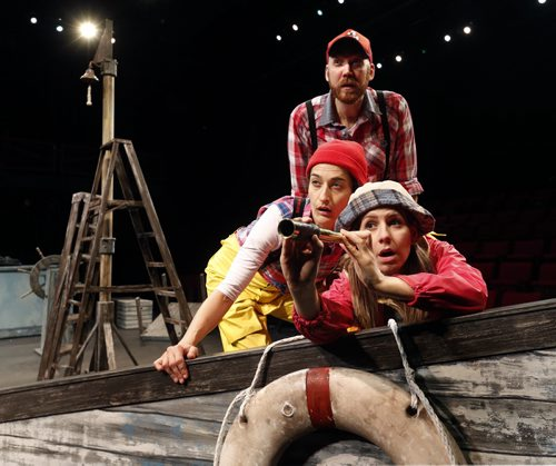 In front is Jennifer Balen as Peg, with Ntara Curry and Mark Crawford in the Manitoba Theatre for Young People production called Peg and the Yeti.  Randall King story Wayne Glowacki / Winnipeg Free Press Nov. 3  2015