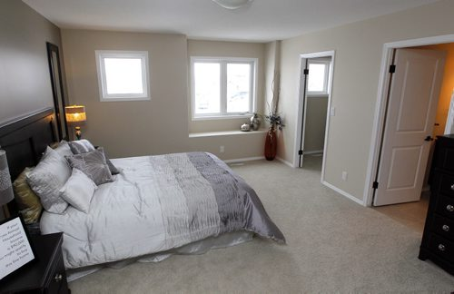NEW HOMES - 19 Castlebury Meadows Drive in Castlebury Meadows. Master bedroom. BORIS MINKEVICH / WINNIPEG FREE PRESS February 11, 2016