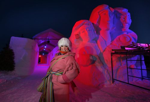 Ginette Lavack Walters, Executive Director of the Festival du Voyageur was at Voyageur Park early Friday early morning doing media interviews and wants to welcome everyone to the Festival that begins Friday and  runs to Feb.21.  Wayne Glowacki / Winnipeg Free Press Feb. 12 2016