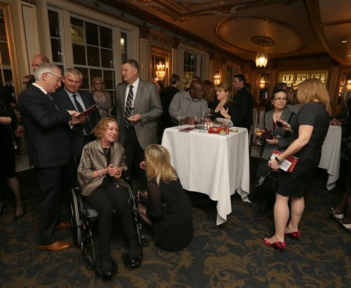 JASON HALSTEAD / WINNIPEG FREE PRESS  Attendees at the Health Sciences Centre Foundation's sixtth annual Savour: Wine and Food Experience on Feb. 27, 2016 at the Metropolitan Entertainment Centre. (See Social Page)