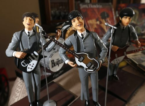 WAYNE GLOWACKI / WINNIPEG FREE PRESS  49.8 Intersection story on the 16-year history of Rockin' Richard's Record & CD Show & Sale. Figurines of the Beatles, part of Richard Sturtz and Alex Reid's collectables. Dave Sanderson story.  March 10 2016