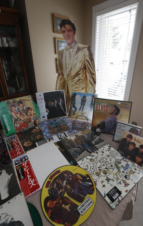 WAYNE GLOWACKI / WINNIPEG FREE PRESS  49.8 Intersection story on the 16-year history of Rockin' Richard's Record & CD Show & Sale. A cutout of Elvis along with some of the music collectables of Richard Sturtz and brother-in-law Alex Reid.  Dave Sanderson story.  March 10 2016