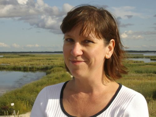 Supplied Born in Saskatchewan, Sue Sorensen is a writer of fiction, poetry, and non-fiction and also an English professor at Canadian Mennonite University in Winnipeg. Her novel, A Large Harmonium (2011), won Best First Book at the Manitoba Book Awards. Her poetry has been published in Room, CV2, Prairie Fire, and the Oolichan collection Desperately Seeking Susans (2012). She is the editor of West of Eden: Essays on Canadian Prairie Literature (2008) and author of an academic study, The Collar: Reading Christian Ministry in Fiction, Television, and Film (2014). NPMintheWFP