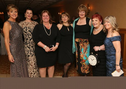 JASON HALSTEAD / WINNIPEG FREE PRESS  L-R: Charlotte Sytnyk (director of development for the Mood Disorders Association of Manitoba), Kim Lavilla (gala co-chair), Diane Demetrioff of CN (event sponsor), Carolyn Eva-Meadows (gala co-chair), Tara Brousseau-Snider (executive director of the MDAM) and Bonnie Bricker at the annual In the Mood Gala frundraiser for the Mood Disorders Association of Manitoba on April 23, 2016, at the Fort Garry Hotel. (See Social Page)