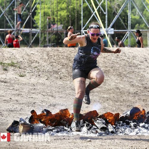 Supplied photo provided of  Ashleigh Sanduliak in 2015 Spartan Run.    Spartan Run 2015 provided by the Spartan run to race participants and was available for download on their website.  July 22/16