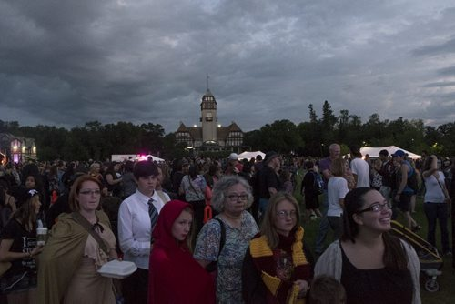 """ZACHARY PRONG / WINNIPEG FREE PRESS  Thousands of people gathered at Assiniboine Park for the release of the new Harry Potter book, """"Harry Potter and he Cursed Child"""". JK Rowling, the author of the wildly popular series, says it will be the last Harry Potter Book. July 30, 2016."""