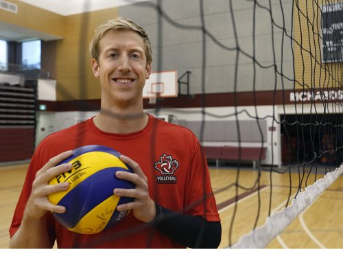 "WAYNE GLOWACKI / WINNIPEG FREE PRESS     Chris Voth, a local professional volleyball player in the multiplex  at St. Paul's High School.  A European professional¤club withdrew a contract offer recently¤be cause he is gay and the club said they had ""concerns"".   Ashley Prest story  August 10 2016"