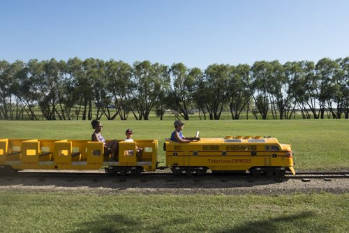 """ZACHARY PRONG / WINNIPEG FREE PRESS  The """"Tinkertown Express"""" runs for half a mile. August 11, 2016."""