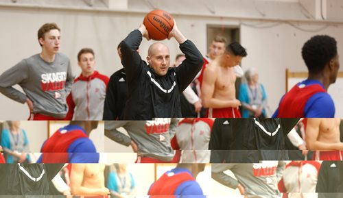 WAYNE GLOWACKI / WINNIPEG FREE PRESS  University of Winnipeg Men's Basketball Head Coach Mike Raimbault at the team's practice in the Duckworth Centre Wednesday.  Mike Sawatzky has the 50th Annual Wesmen Classic story.  Dec.21 2016