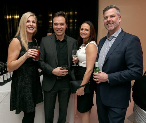 JASON HALSTEAD / WINNIPEG FREE PRESS  L-R: Colleen and Kevin McFadden and Todd and Ramona Thomson at the St. Mary's Academy Igniting Hope Gala gala on Jan. 28, 2017, at St. Mary's Academy. (See Social Page)