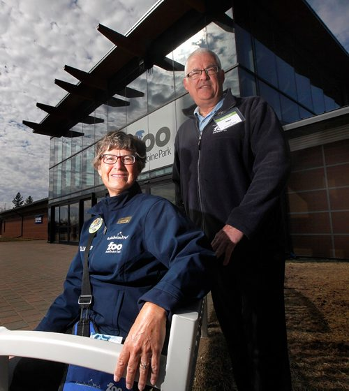 PHIL HOSSACK / WINNIPEG FREE PRESS  -   Zoo volunteers Mike and Pam Simpson.......see story.  -  April 7, 2017
