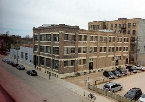 BORIS MINKEVICH / WINNIPEG FREE PRESS Shoots of the location of a $94 million Red River College Innovation Centre. The location is on Elgin Ave just north of RRC's Princess St. campus. The site includes Metro Motors lot and the building next to it. Photographed from the 3rd floor of the RRC campus looking north/northwest. MARTIN CASH STORY. April 26, 2017