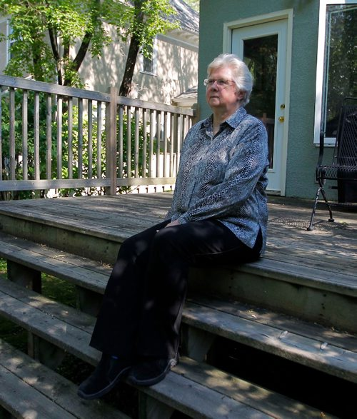 BORIS MINKEVICH / WINNIPEG FREE PRESS 9-11 widow Ellen Judd poses for a photo for Sanders story on Omar Khadr, and her take on the government of Canada's handling of him. She lost her spouse Christine Egan to terrorism and thinks Khadr's rights were violated. Carol Sanders story.  July 13, 2017