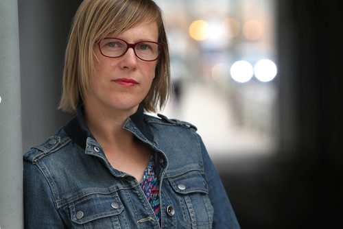 RUTH BONNEVILLE / WINNIPEG FREE PRESS  Portraits of Molly McCracken with the Canadian Centre for Policy Alternatives  - Manitoba Office.  Photos taken  at Main Street underpass for story on latest census on incomes.  McCracken says the lasted census shows growing gap between high and middle incomes, and the lower class.  See Bill Redekop story.   SEPT 13, 2017