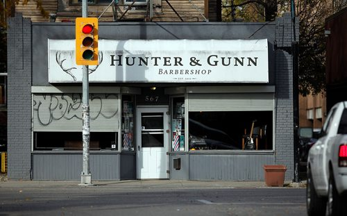 PHIL HOSSACK / WINNIPEG FREE PRESS  - Hunter & Gunn barbershop is celebrating 5 years with a fundraising celbration. The shop has raised over $75,000 already by donating $1/cut to charity. See Martin Cash story. - October 17, 2017