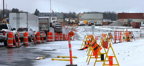 WAYNE GLOWACKI / WINNIPEG FREE PRESS  Motorists, cyclists and pedestrians near the Waverley Underpass project from Wednesday to Friday can expect traffic delays as a rail detour is implemented at the at-grade railway crossing on Waverley Street just south of Taylor Avenue to facilitate further construction of the underpass.  Nov.1  2017