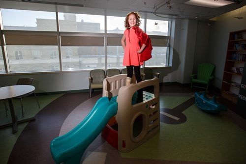 MIKE DEAL / WINNIPEG FREE PRESS Friday marks a very special day in 11-Year-Old Abigail Stewart's life. Not only is she currently in remission from multi system langerhans cytosis (even though she is still dealing with the after-effects of chemotherapy), but she wants to take this negative experience by making it a positive one by becoming the 2018 Children's Hospital Champion. Over the next 12 months, Abigail will be an ambassador for the 120,000 kids and families helped by Children's Hospital each year. She will share her story as she travels across Manitoba. In March, Abigail will travel to Ottawa to meet other Champions from across the country and then on to Disney World to celebrate not only her achievement but also to meet with International Media, to showcase what an amazing hospital and research institute we have here in Manitoba. She will be dedicating her year to raise money to support the unit that helped save her life. 180112 - Friday, January 12, 2018.