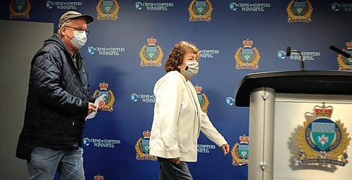 RUTH BONNEVILLE / WINNIPEG FREE PRESS  Local - WPS presser with more info on disappearance of Cynthia Parisian   Darlene (Cynthia's mom) and Ron (Cynthia's step-dad) read a statement at a media conference regarding the disappearance on Feb 17, 2019, ,of their daughter, Cynthia Parisian, a 40-year-old female, at The Public Information Office Friday.    Cynthia was last seen at the Home Depot located at 845 Leila Avenue during the afternoon of February 17, 2019. At the time of her disappearance, she had been wearing dark clothing with a pink toque.  WPS released surveillance video and updated information regarding the disappearance of Cynthia Parisian, a 38-year-old female who went missing in February 2019.  (Please note, Cynthia was 38 on the date she disappeared and would be 40 now.)  Nov 20th,  2020