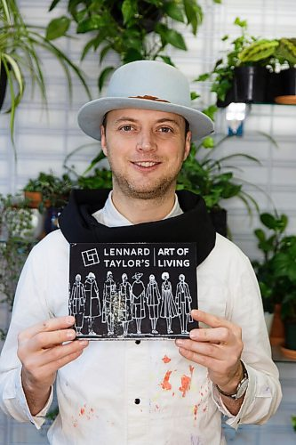 MIKE DEAL / WINNIPEG FREE PRESS Local clothing designer Lennard Taylor has released a new book, with different affirmations and positive messages accompanied by pictures of his art.  See Ben Waldman story  201204 - Friday, December 04, 2020.