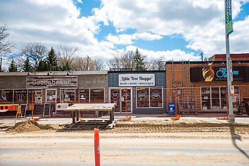 MIKAELA MACKENZIE / WINNIPEG FREE PRESS  Construction work on Corydon Avenue in Winnipeg on Tuesday, May 4, 2021. For Erik Pindera story. Winnipeg Free Press 2020.