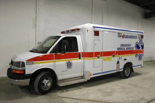 MIKE.DEAL@FREEPRESS.MB.CA 100401 - Thursday, April 1st, 2010 The new larger heavy-duty ambulance sits only a few weeks away from being ready to go. See Melissa Martin story MIKE DEAL / WINNIPEG FREE PRESS