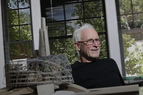 Antoine Predock, architect responsible for the Canadian Museum for Human Rights, in the Canada cottage on the grounds nears his office in Albuquerque New Mexico, August 10, 2010. Lyle Stafford/Winnipeg Free Press