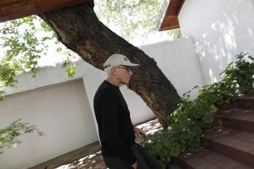 Antoine Predock, architect responsible for the Canadian Museum for Human Rights, on the grounds nears his office in Albuquerque New Mexico, August 10, 2010. Lyle Stafford/Winnipeg Free Press